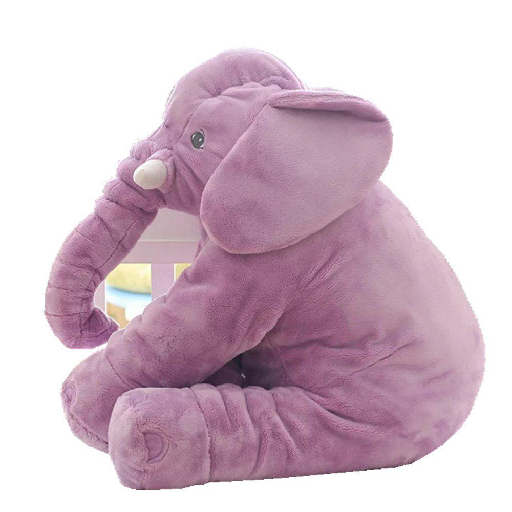 Infant Soft Appease Elephant Playmate Calm Doll Baby Toy - MAUVE