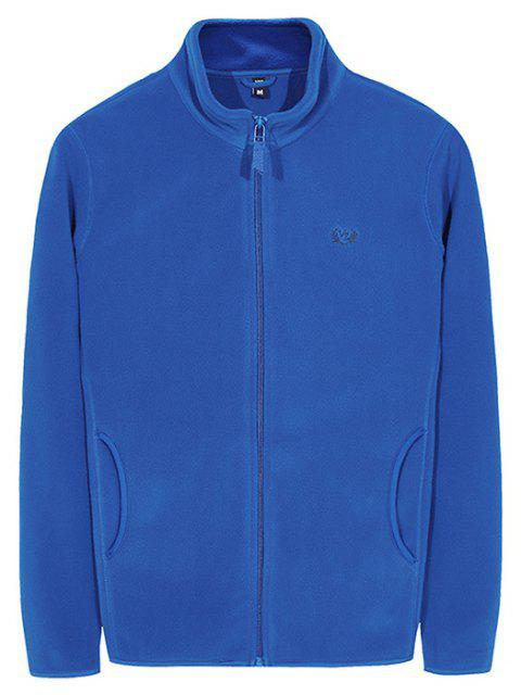 Men's Autumn Casual Plain Coat - BLUE 2XL