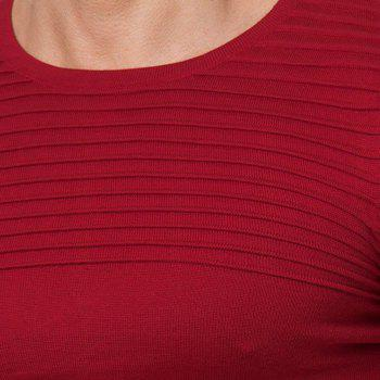Men's Solid Color Casual Wild Fashion Striped Slim Sweater - RED 2XL