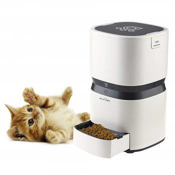 ALN Pet Feeder Auto Dog Cat Stainless Wi-Fi Enabled App for IPhone and Android - WHITE