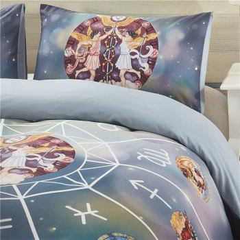 Explosion Models 12 Constellations Gemini High-Quality Bedding Three-Piece - multicolor QUEEN