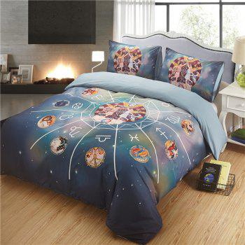 Explosion Models 12 Constellations Gemini High-Quality Bedding Three-Piece - multicolor KING