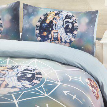 Explosion Models 12 Constellation Aquarius High Quality Bedding Three-Piece - multicolor TWIN