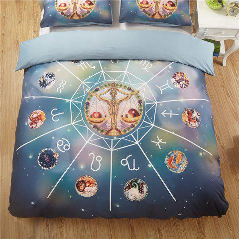 Explosion Models Hot 12 Constellation Libra Quality Bedding Three-Piece - multicolor TWIN