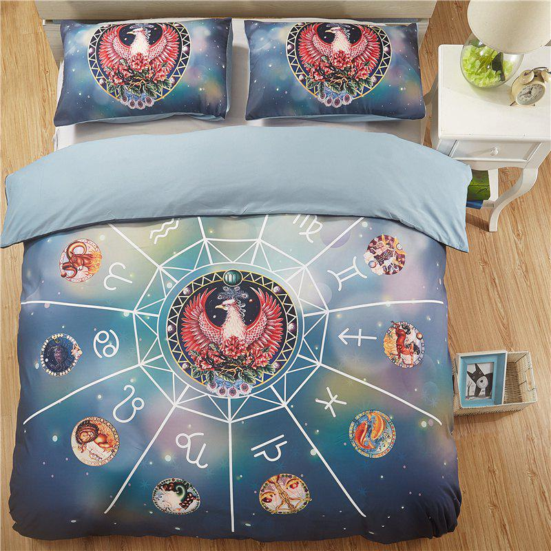Hot 12 Constellation Scorpio Quality Bedding Three-Piece - multicolor QUEEN