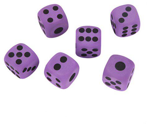 6pcs Giant EVA Foam Dirt-resistant Playing Dice for Kids - PURPLE