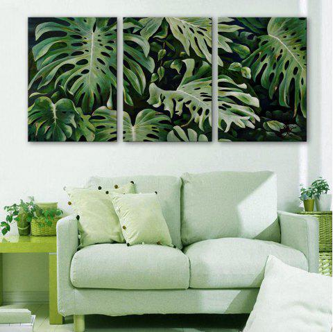 Special Design Frameless Paintings Monstera of 3 - multicolor 16 X 24 INCH (40CM X 60CM)