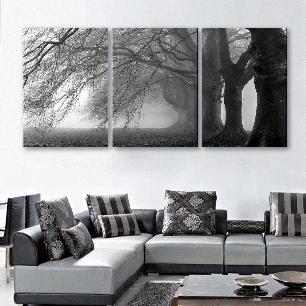 Special Design Frameless Paintings Dusk in The Woods  3pcs - multicolor 20 X 28 INCH (50CM X 70CM)