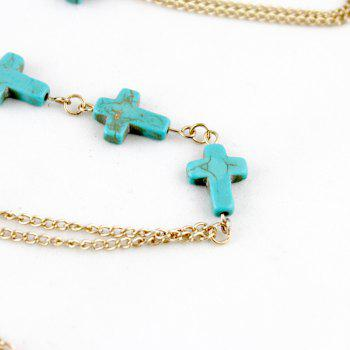 Colorful Turquoise Body Chain Necklace for Women - multicolor B