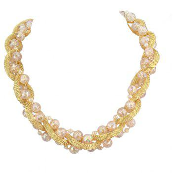 Beautiful Colorful Bead Chain Necklace for Women - multicolor A