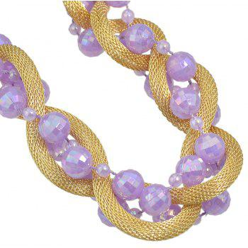 Beautiful Colorful Bead Chain Necklace for Women - multicolor D