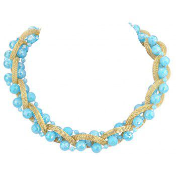 Beautiful Colorful Bead Chain Necklace for Women - multicolor F