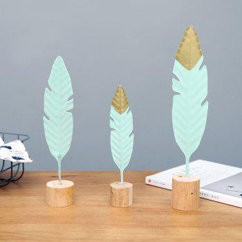 Feather Model Figurine Craft Ornament Gift for Friend Table Decoration - multicolor 36CM X 5.5CM X 6CM