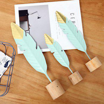 Feather Model Figurine Craft Ornament Gift for Friend Table Decoration - multicolor 24CM X 4.5CM X 4CM