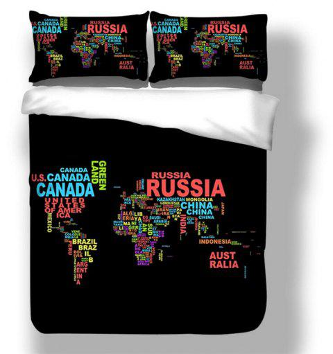High Quality Personality Creative Design Letter Map Three-Piece - multicolor QUEEN