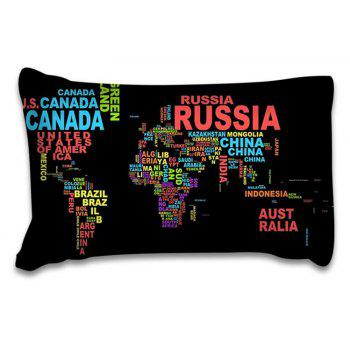 High Quality Personality Creative Design Letter Map Three-Piece - multicolor KING