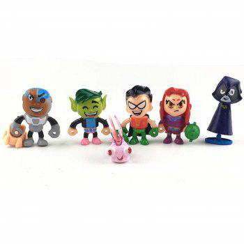 Mini figurine en plastique Action Anime personnage modèle Home Office Decor 6pcs - multicolor A