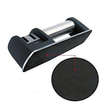 Knife Sharpener for Straight Serrated Dull Quickly - BLACK