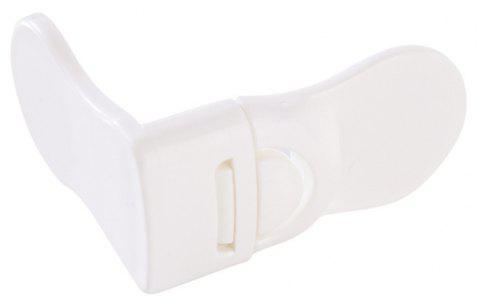 Baby Lock Right Angled Cabinet Drawer Door Opening Safety Buckle - WHITE