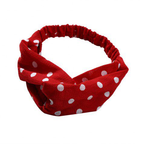 Sweet and Lovely Solid Color White Hairband - RED
