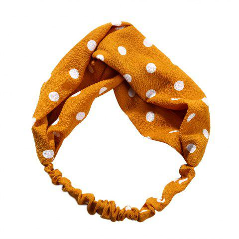 Sweet and Lovely Solid Color White Hairband - GOLDEN BROWN