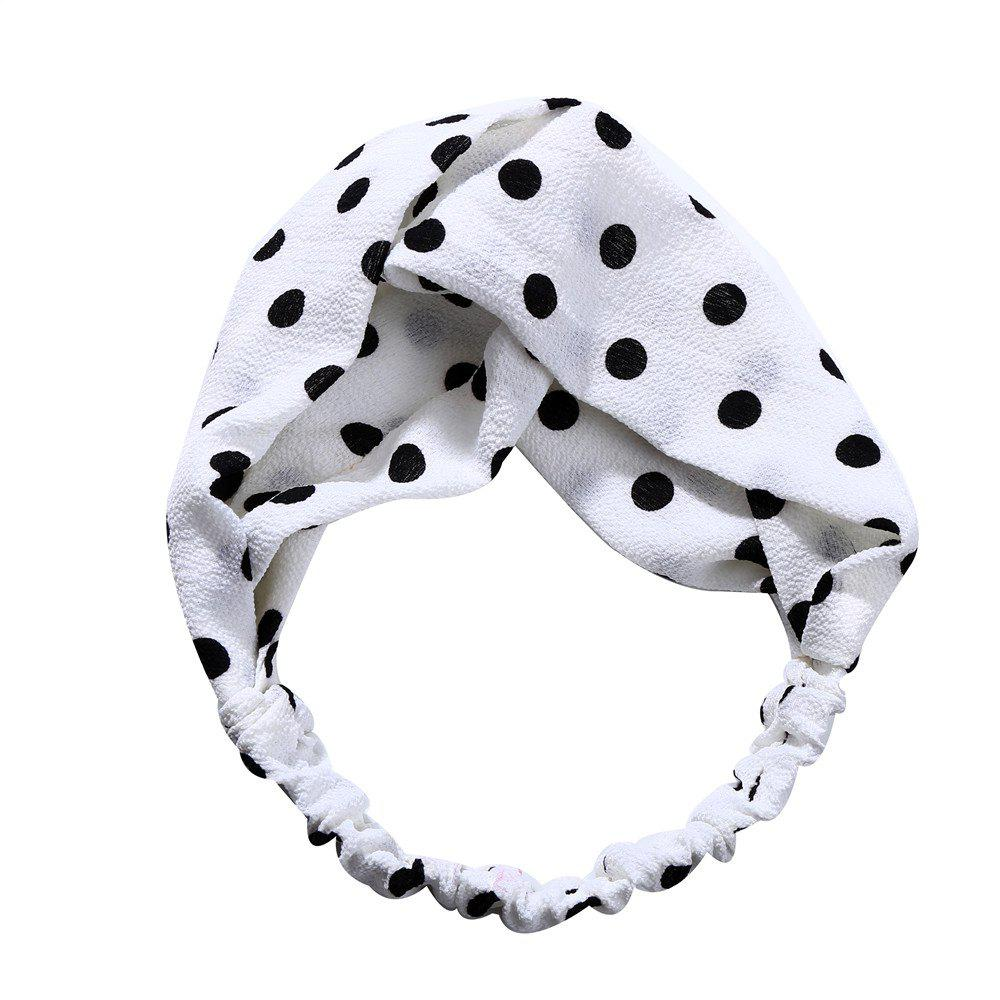 Sweet and Lovely Solid Color White Hairband - WHITE