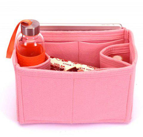 Bag and Purse Flet Organizer With Regular Style For Neverfull Models -  LIGHT PINK HORIZONTAL d51cc507533c2