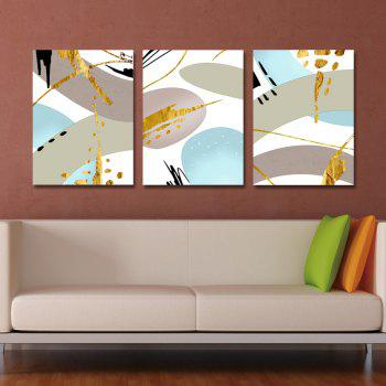 3PCS Fashion Abstract Print Art - multicolor