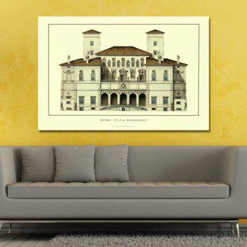 Castle Building Landscapes Print Art - multicolor