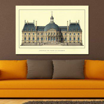 Fashion Castle Building Print Art - multicolor