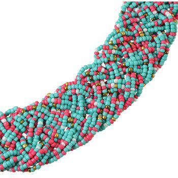 Colorful Bead Chain Necklace for Women - multicolor