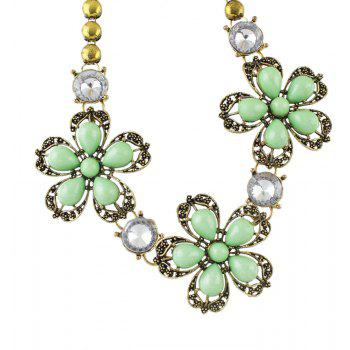 Colorful Flower Collar Big Necklace for Fashion Women - multicolor A