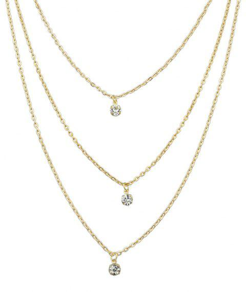 Minimalist Metal Multilayer Chain Necklace for Women - GOLD