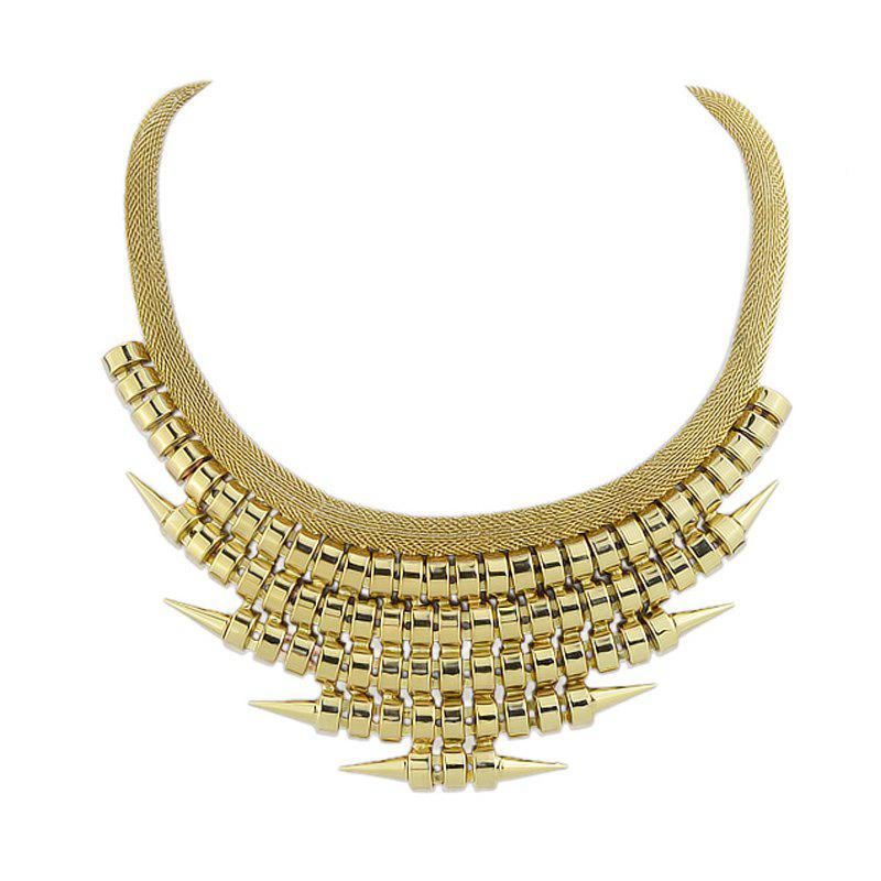 Exaggeration Metal Geometry Necklace for Women - GOLD