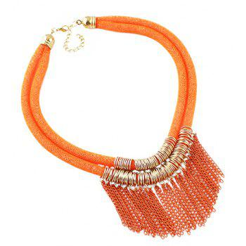 Fashion Double Tassel Necklace for Women - multicolor B