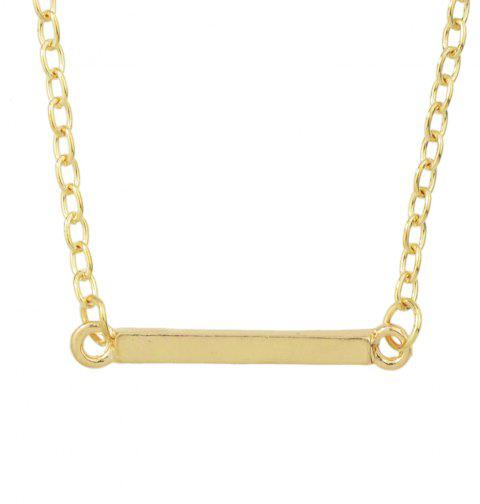 Minimalist Metal Chain with Strip Geometry Pendant Necklace - GOLD