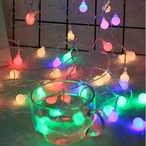 5M 50 Led Ball String Lights for Garden Christmas Tree Party Outdoor - multicolor A MULTI COLOR