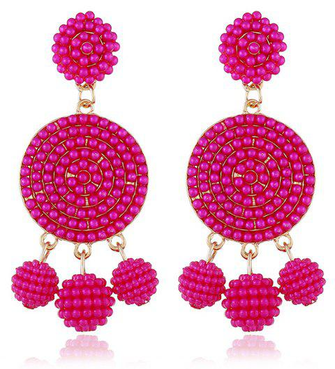 Exquisite Fashion Ball Geometric Earrings - BURNT PINK