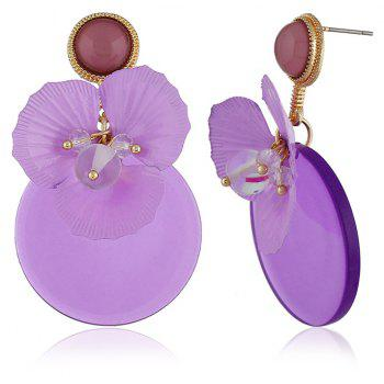 Original Personality Purple Flower Earrings - VIOLET