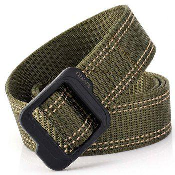 Enniu Plastic Buckle Quick-Drying Durable Weaving Tactical Belt - ARMY GREEN