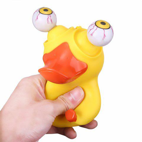 Novelty Duck Squeeze Eye Doll Stress Reliever Funny Christmas Gift - YELLOW