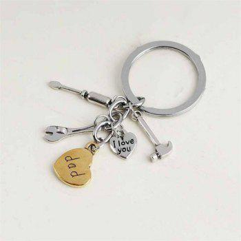 Father's Day Gift Gadget Pendant Keychain - SILVER