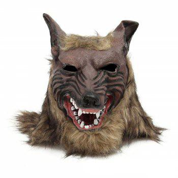 Loup-garou Latex Masque Gants Loup Claw Halloween Party Cosplay Costumes Props Game - Brun Chêne