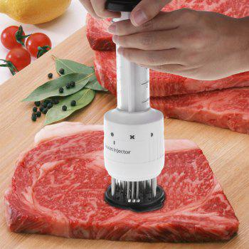 Stainless Steel Syringe Marinade Sauces Injector Kitchen Cooking BBQ Tool - WHITE