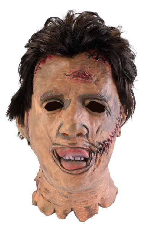 Adult Serial Killer Gruesome Horror Scary Halloween Latex Face Fancy Dress Mask - GRAY 1PC