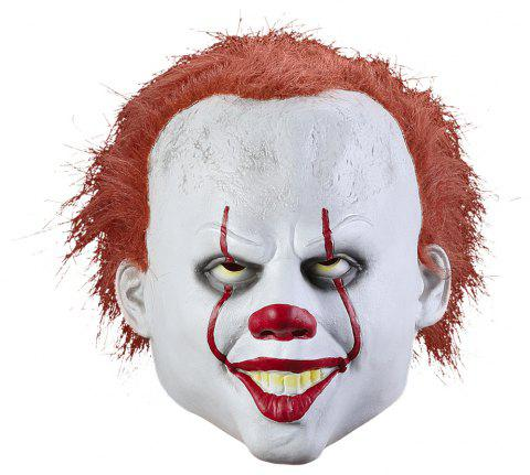 Pennywise Clown Joker Real Life Masque Fantaisie Costume Halloween - Blanc 1PC