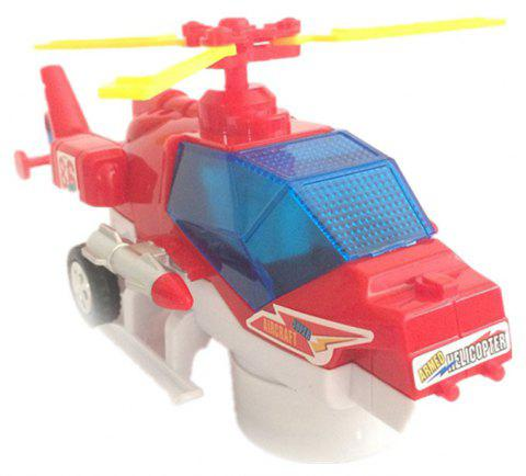 Electric Universal Flashing Music Helicopter - multicolor