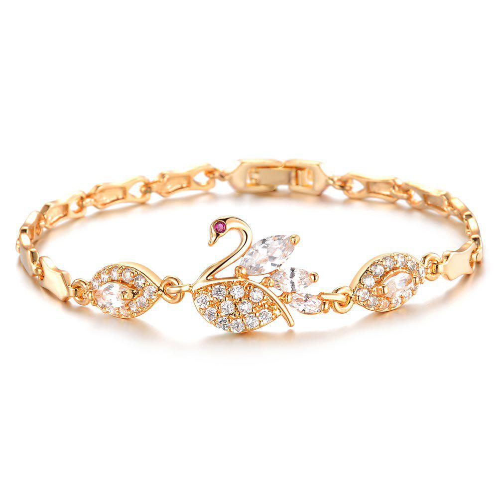 Women Bracelets Gold Color Link Chain  Jewelry Romantic Gift - GOLD