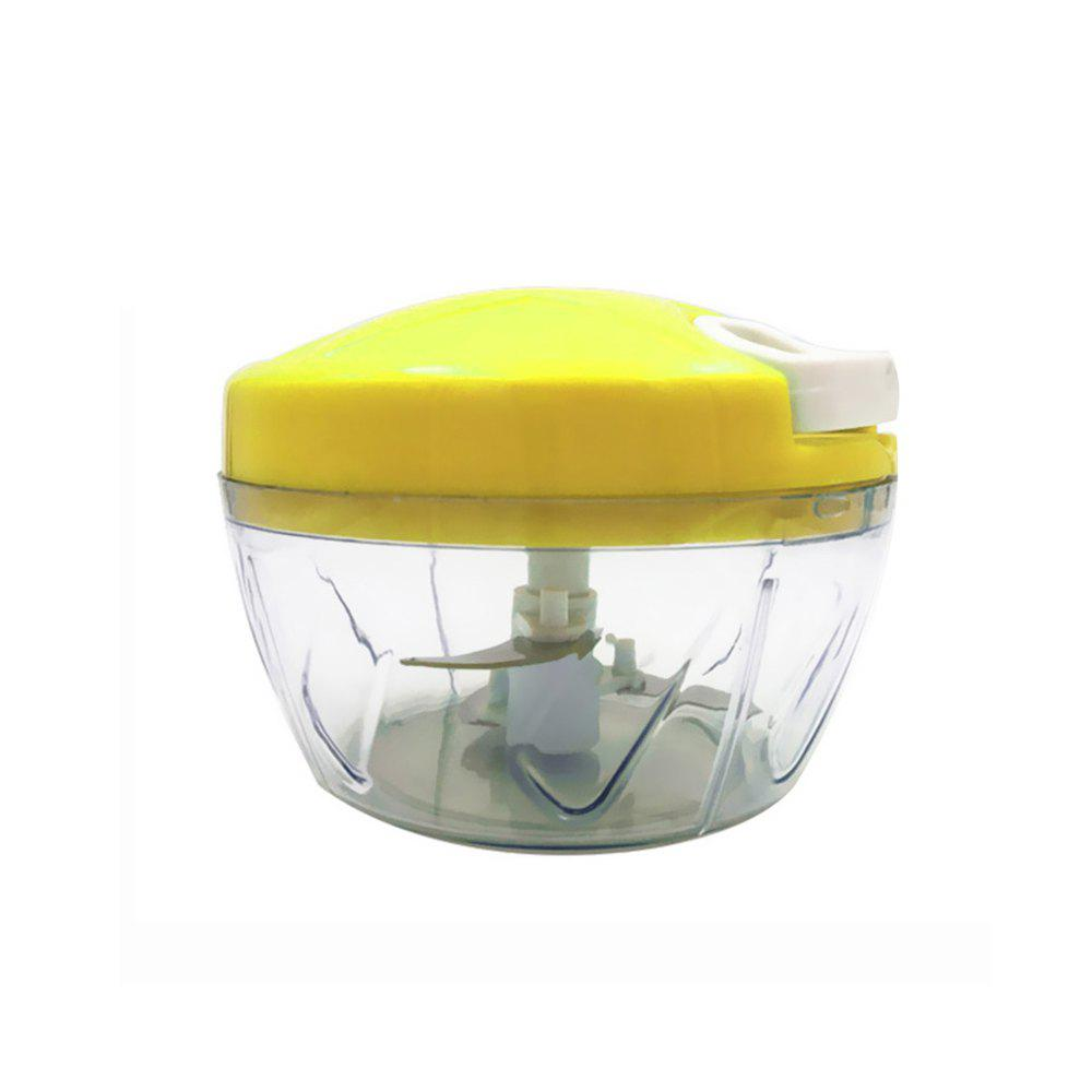 Kitchen Multi-Function Household Hand-Cranked Vegetable Cutter - YELLOW