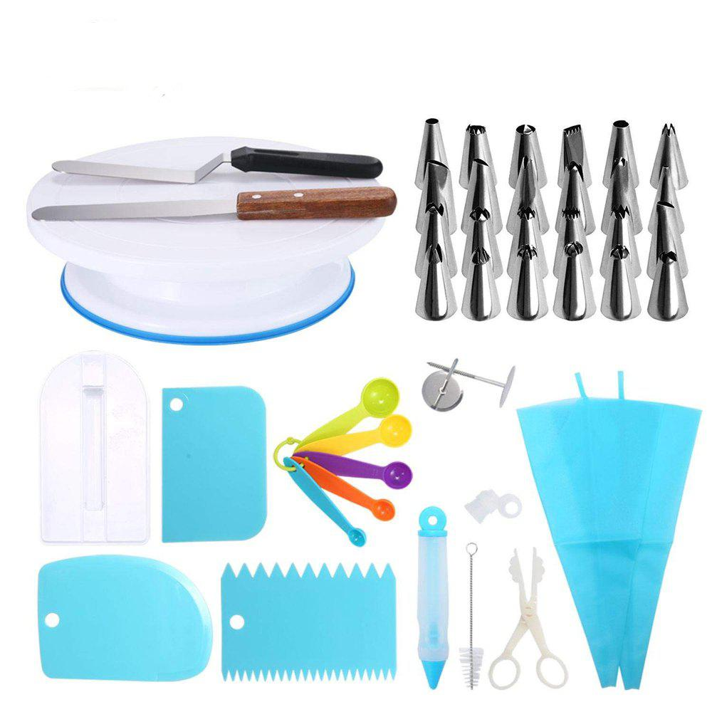 41pcs Cake Decorating Tools All-In-One Baking Supplies Piping Set - multicolor